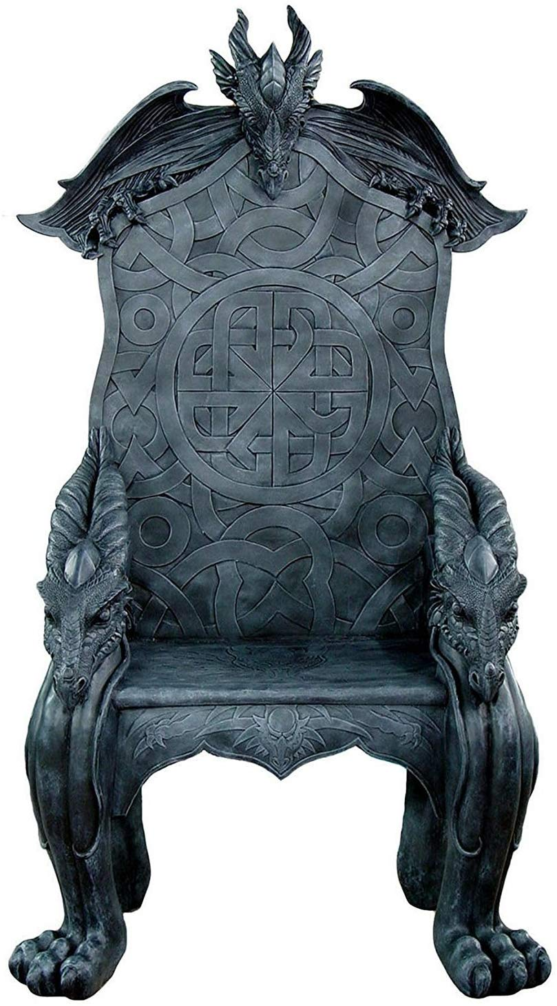 black gothic chair